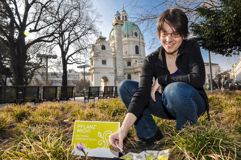 Pflanz mich Karlsplatz Wien Freiland-Geschichte