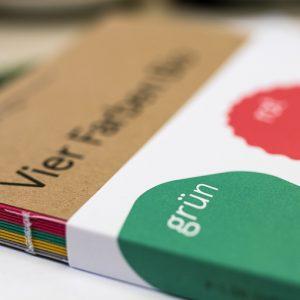 Ausstellungskatalog Vier Farben Bio Bio-Wissensmarkt 60 Dinge 60 Experten